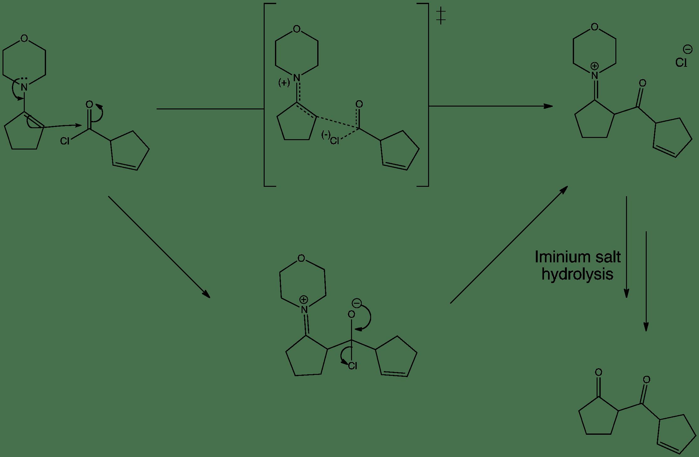 Enamine Acylation Reaction With An Acid Chloride