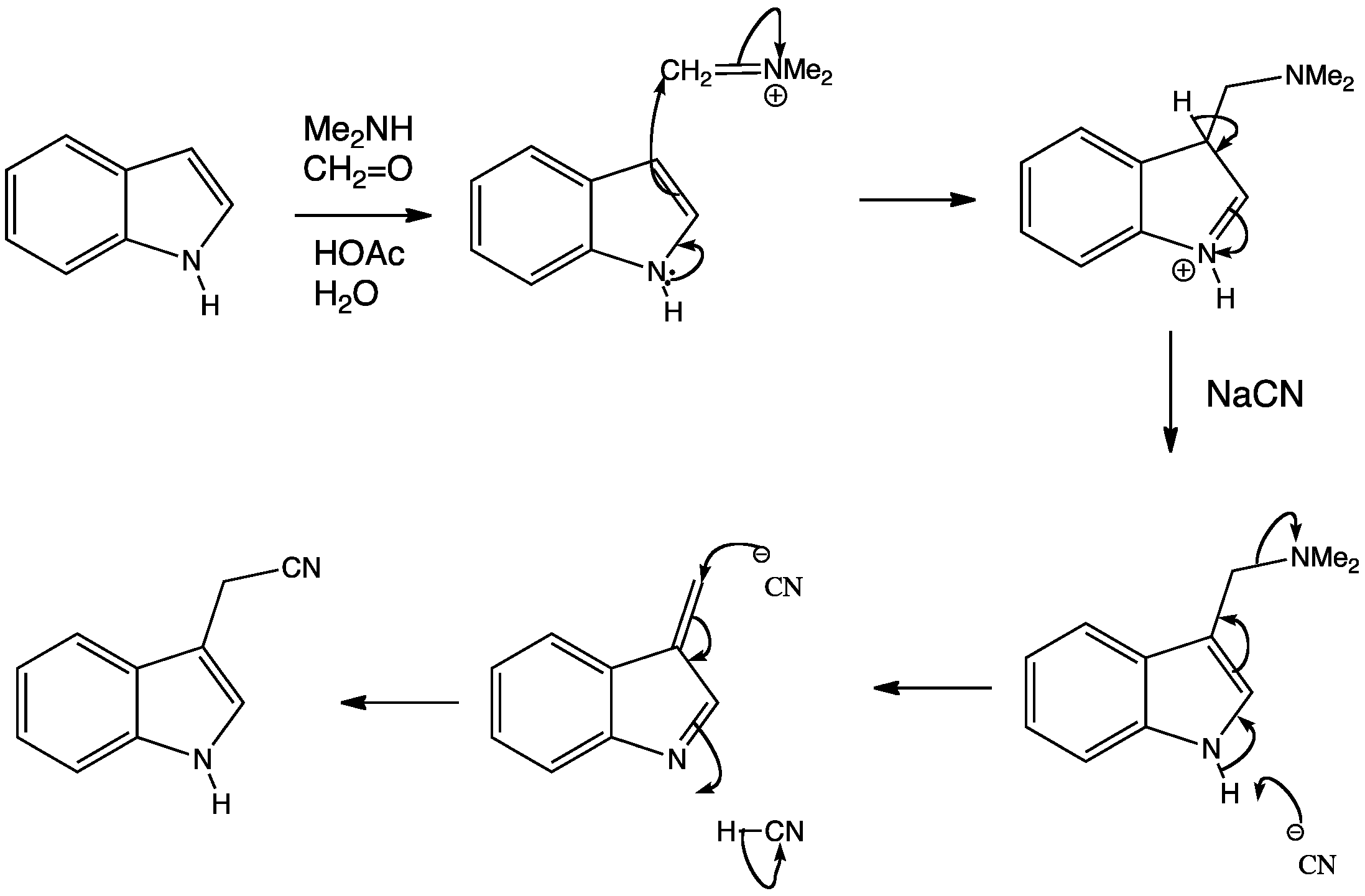 Indole Mannich Reaction And Substitution By Elimination
