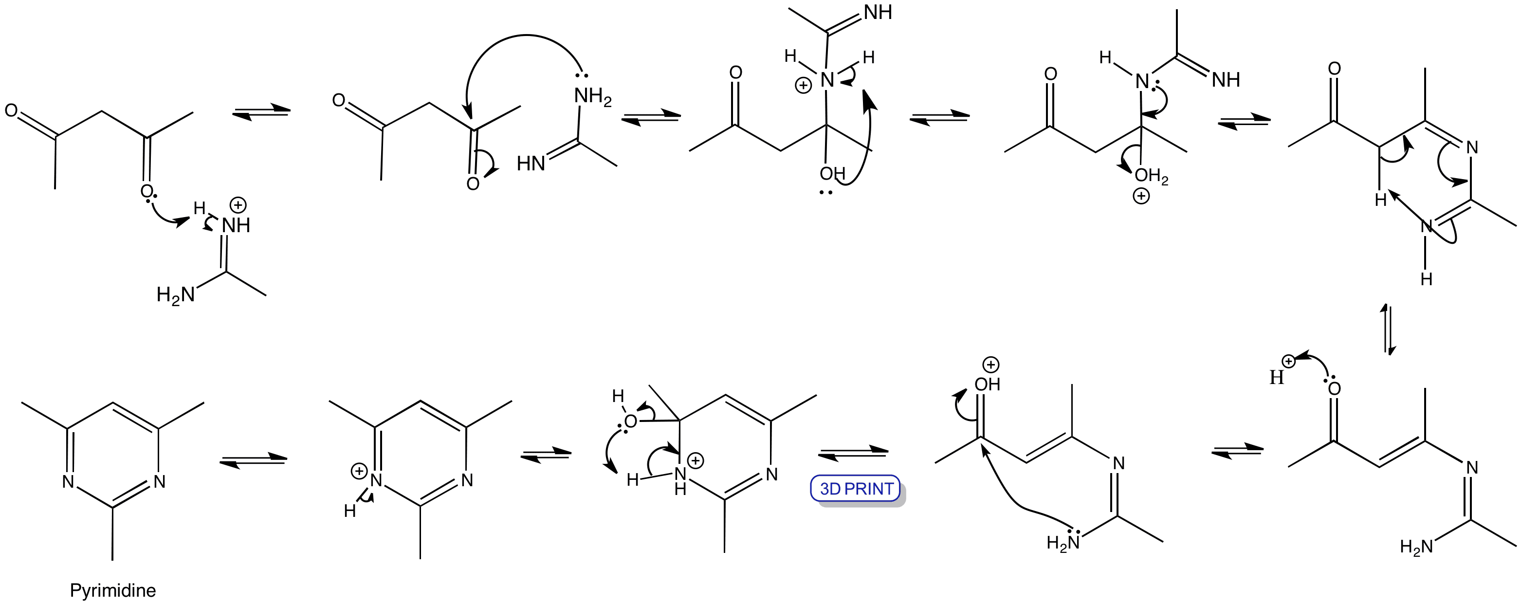 Synthesis Of Pyrimidine Chemtube3d